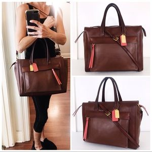 Coach Large Legacy Bleecker Chestnut Leather Tote